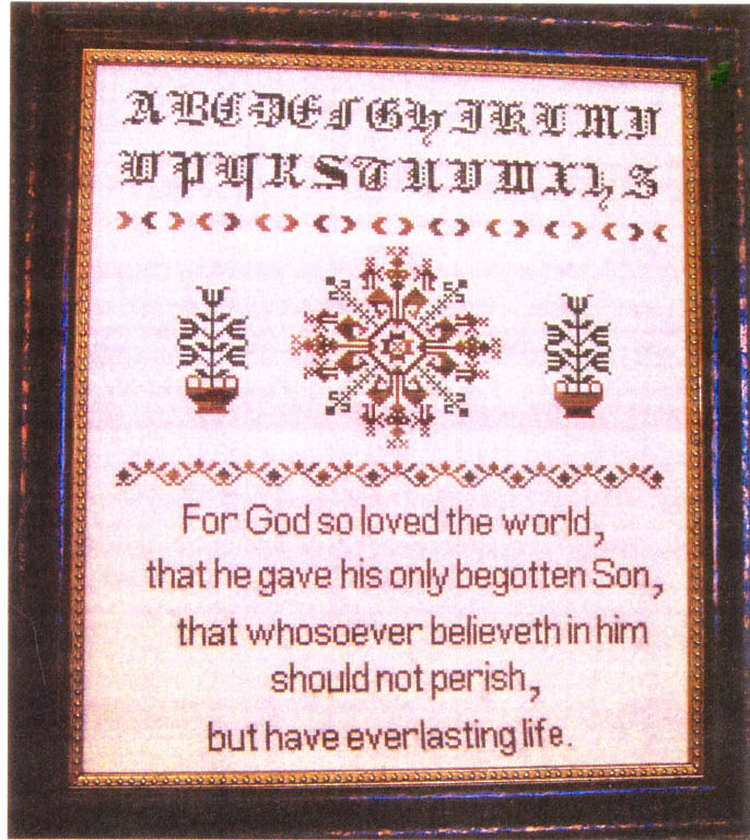click here to view larger image of Scripture Sampler John 3.16 (chart)