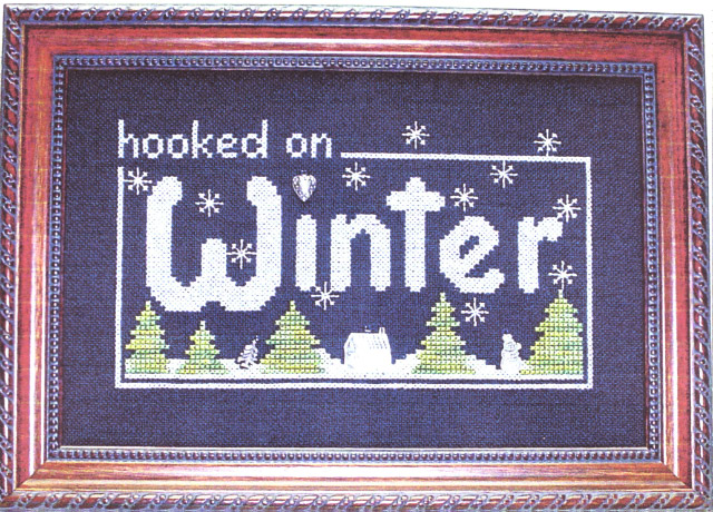 click here to view larger image of Hooked on Winter (chart with charms/buttons)