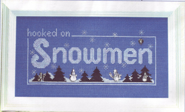click here to view larger image of Hooked on Snowmen (chart with charms/buttons)