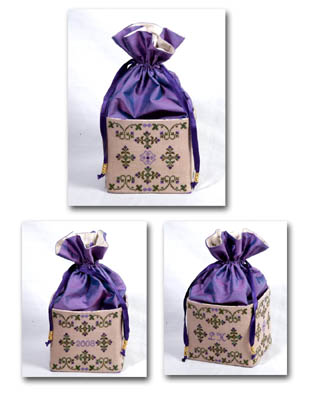 click here to view larger image of Amethyst Sewing Bag (chart)
