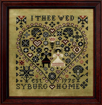 click here to view larger image of I Thee Wed (chart)