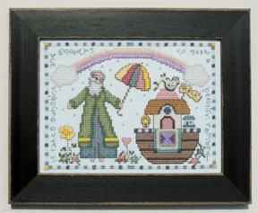 click here to view larger image of Welcome Home Calendar Series April - Sunshine and Showers (counted cross stitch kit)