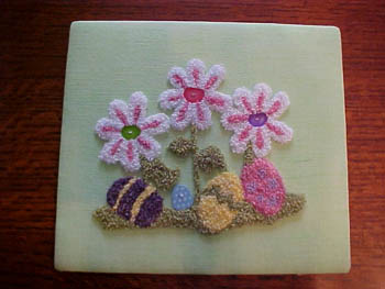 click here to view larger image of Bunny Blooms (Punchneedle w/fabric) (chart)