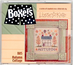 click here to view larger image of Autumn Cottage - Boxer Kit (counted cross stitch kit)