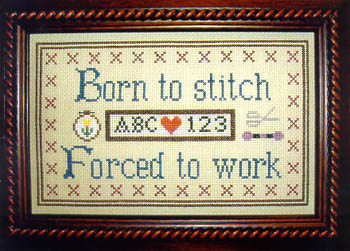 click here to view larger image of Born To Stitch (chart)
