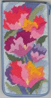 click here to view larger image of Watercolor Poppies Eyeglass (with floss) (needlepoint kits)