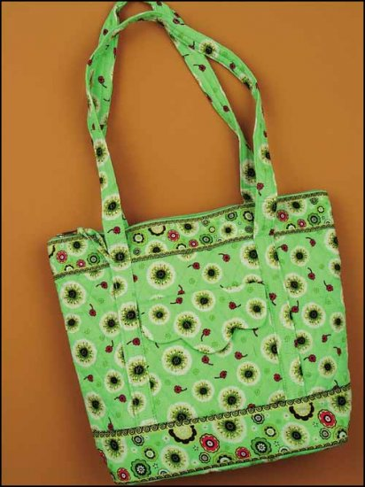 click here to view larger image of Emily Quilted Tote - Mint (accessory)
