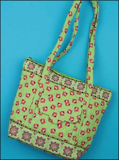click here to view larger image of Emily Quilted Tote - Light Green (accessory)