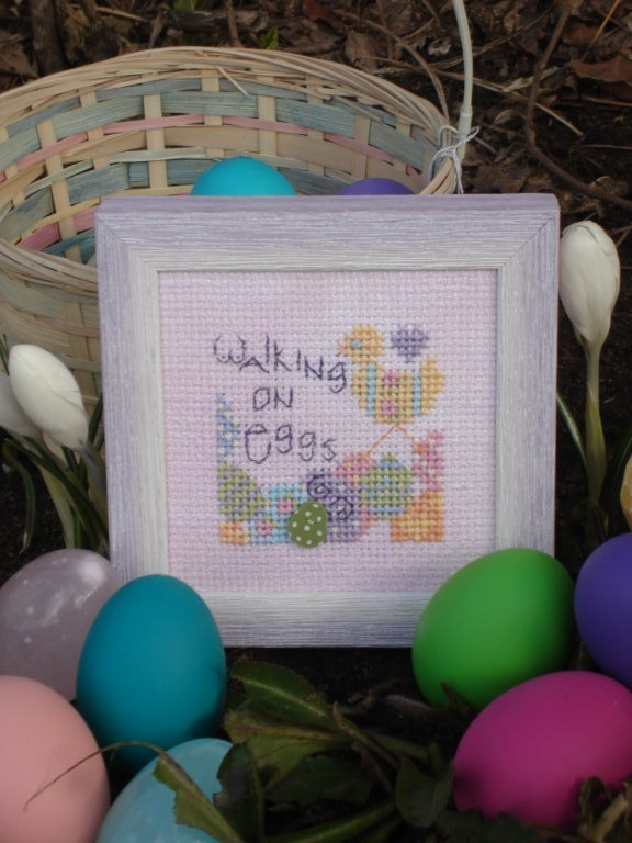 click here to view larger image of Walking on Eggs (counted cross stitch kit)