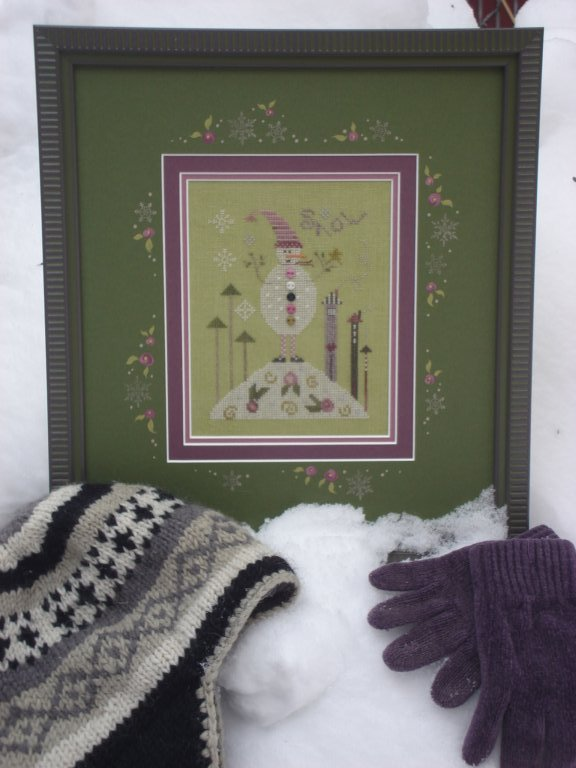 click here to view larger image of Green Snowman (counted cross stitch kit)
