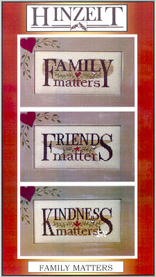 click here to view larger image of Family Matters (chart with charms/buttons)