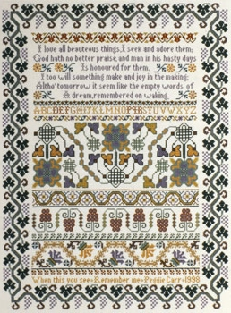 click here to view larger image of Remember Me Sampler (chart)