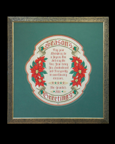 click here to view larger image of Season's Greetings Sampler (chart)