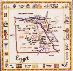 click here to view larger image of Egypt Map  (chart)