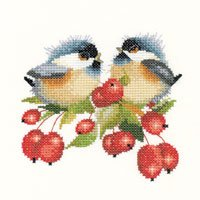 click here to view larger image of Berry Chick-Chat (counted cross stitch kit)