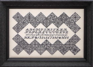 click here to view larger image of Black Velvet Inscription Sampler (chart)