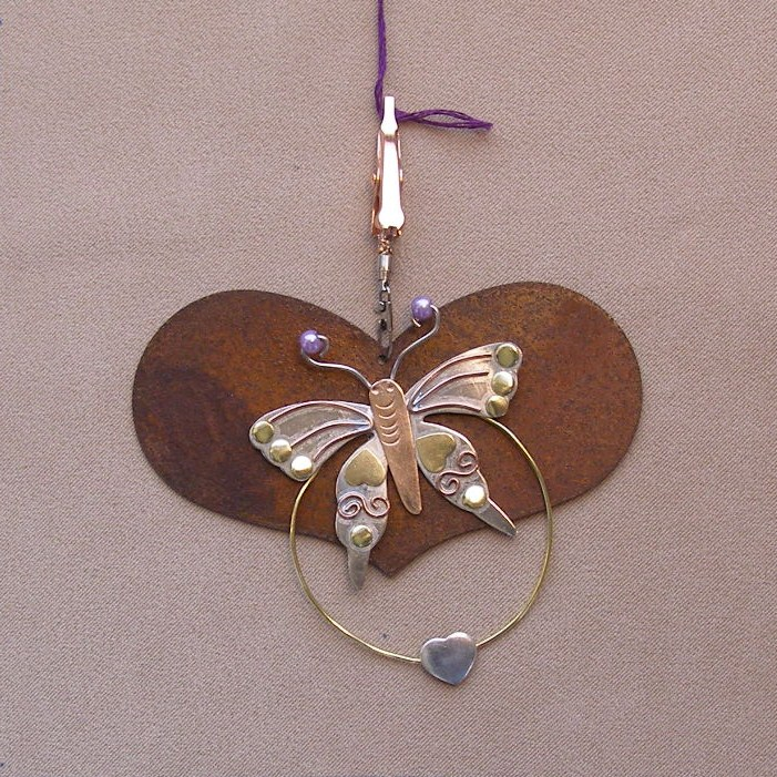 click here to view larger image of Heart With Butterfly Thread Separator - 3.5 inches (accessory)