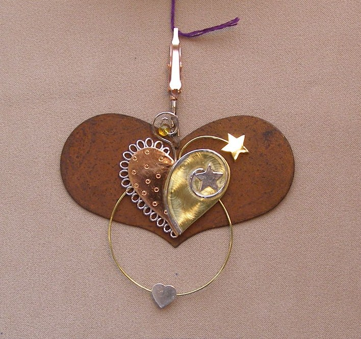click here to view larger image of Heart With Heart Thread Separator - 3.5 inches (accessory)