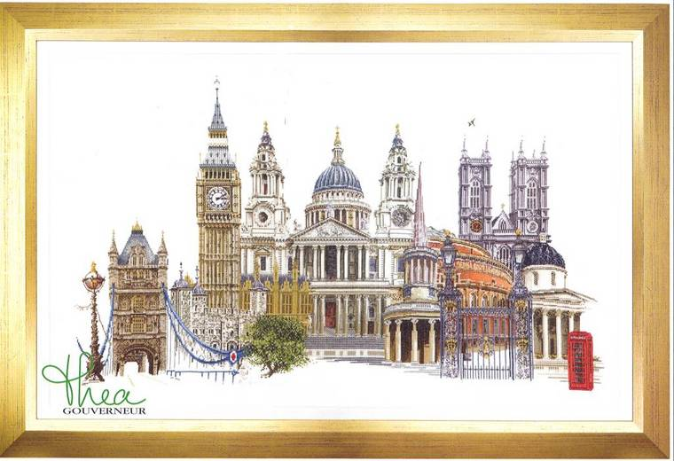 click here to view larger image of London - Linen (counted cross stitch kit)