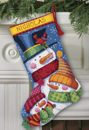 click here to view larger image of Freezin Season Stocking (needlepoint)