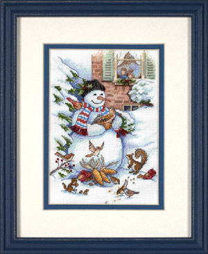 click here to view larger image of Snowman and Friends (counted cross stitch kit)