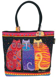 click here to view larger image of Feline Friends  - Shoulder Zip Top Bag (accessory)