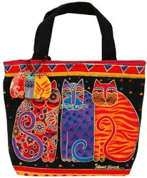 click here to view larger image of Feline Friends  - Mini Tote (accessory)