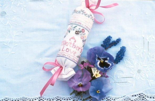click here to view larger image of Mother's Love Needle Roll, A (counted cross stitch kit)