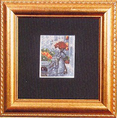 click here to view larger image of Woman With Umbrella (counted cross stitch kit)