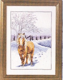 click here to view larger image of Winter Horse (counted cross stitch kit)