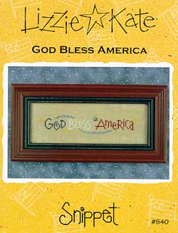 click here to view larger image of God Bless America - Snippet (chart)