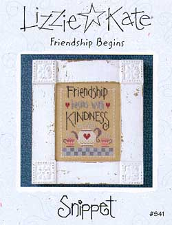 click here to view larger image of Friendship Begins - Snippet (chart)