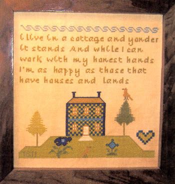 click here to view larger image of Blue House Sampler (chart)