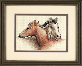 click here to view larger image of Horse Pals (counted cross stitch kit)
