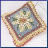 click here to view larger image of Beaded Pin Pillow - Daisy Dream (2003) (counted cross stitch kit)