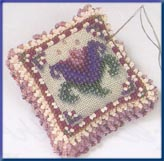 click here to view larger image of Beaded Pin Pillow - Cameo Tulip (2003) (counted cross stitch kit)