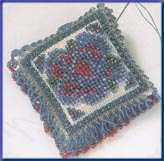 click here to view larger image of Beaded Pin Pillow - Victorian Posey (2003) (counted cross stitch kit)