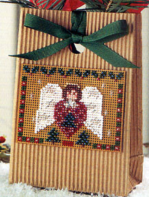 click here to view larger image of Crystal Plum Angel (2002) (counted cross stitch kit)