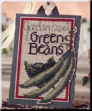 click here to view larger image of Seed Tags - Garden Best Green Beans (counted cross stitch kit)