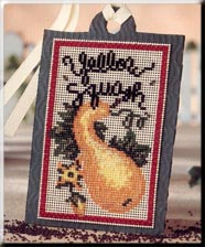 click here to view larger image of Seed Tags - Yellow Squash (counted cross stitch kit)