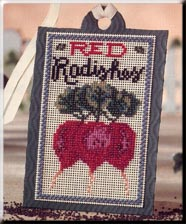 click here to view larger image of Seed Tags - Red Radishes (counted cross stitch kit)
