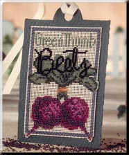 click here to view larger image of Seed Tags - Green Thumb Beets (counted cross stitch kit)