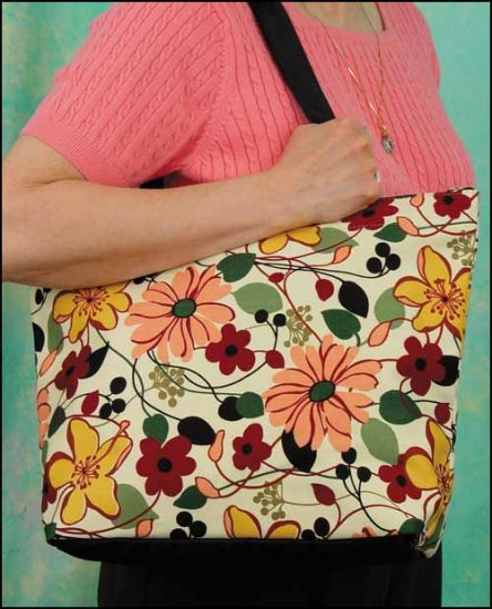 click here to view larger image of Riley Tote - Floral (accessory)
