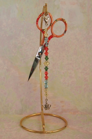 click here to view larger image of Match-Your-Ginghers Scissor Fob - Bianca (accessory)