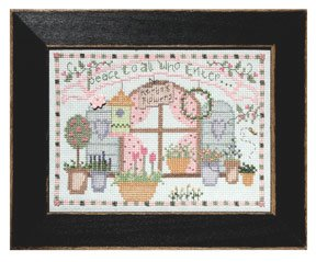 click here to view larger image of Welcome Home Calendar Series June - Peace to All (counted cross stitch kit)