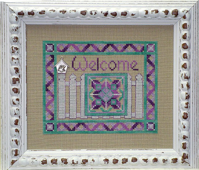 click here to view larger image of Picket Fence Welcome (with charm) (chart with charms/buttons)