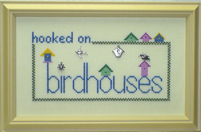 click here to view larger image of Hooked On Birdhouses (with charms) (chart with charms/buttons)