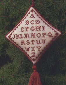 click here to view larger image of Christmas Abecedaire Ornament (chart)