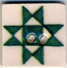 click here to view larger image of Green Ohio Star Button (buttons)