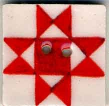 click here to view larger image of Red Ohio Star Button (buttons)